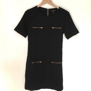 Zipper Pocket Shift Dress